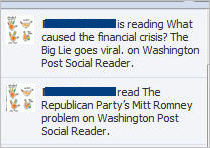 Stop facebook sharing through Washington Post Social Reader