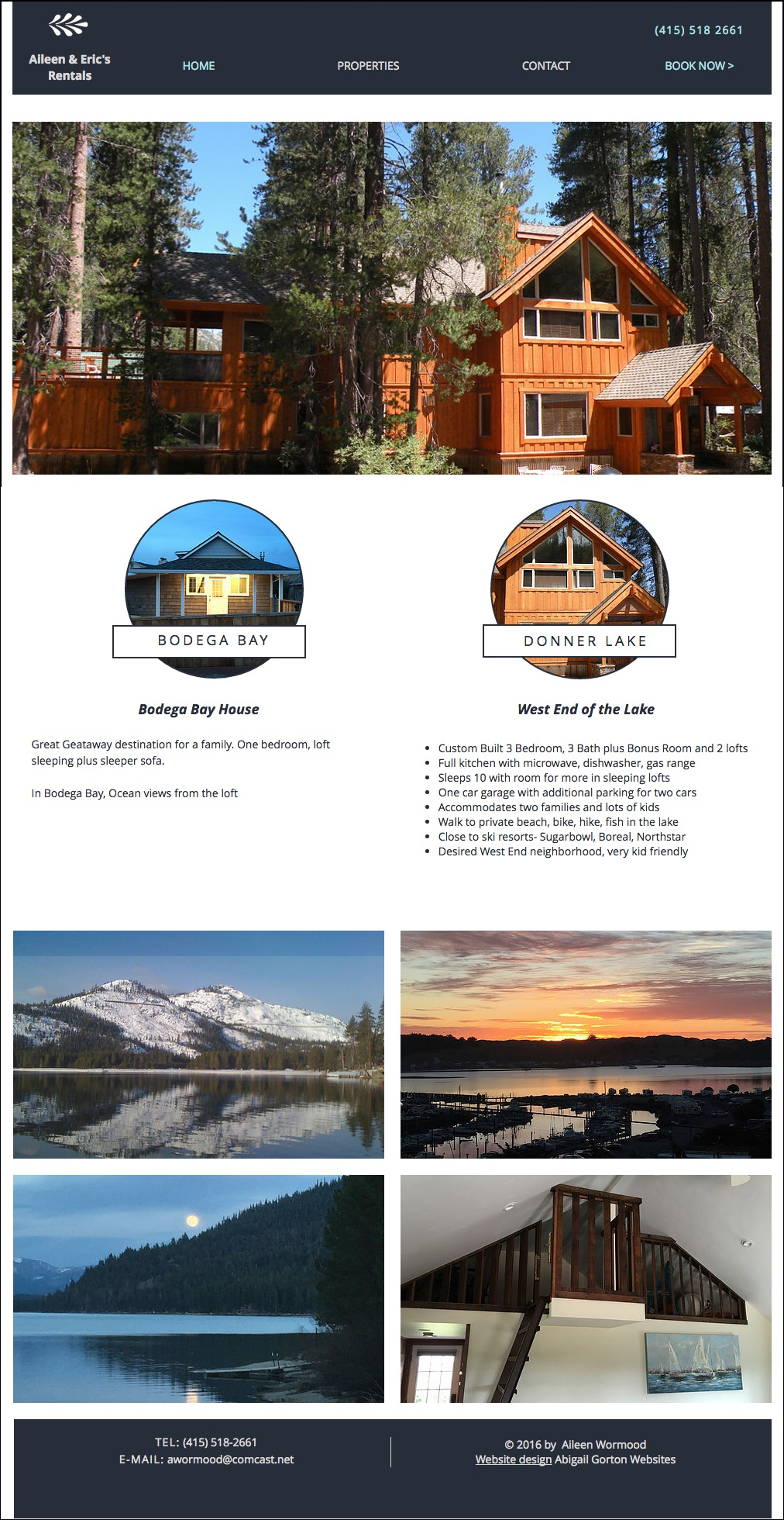 Vacation Rentals Website Website Design For Vacation Rental