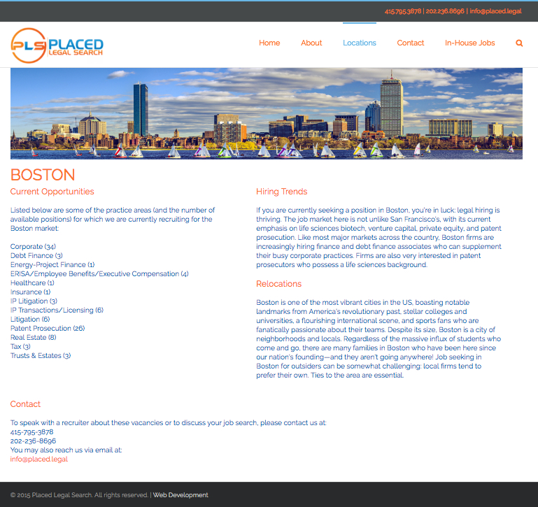Legal Search Website Design